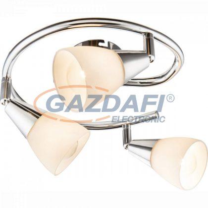 GLOBO 54919-3 TADEUS Mennyezeti lámpa  , 40W , 3x E14 , króm , üveg