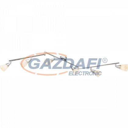 GLOBO 54919-6 TADEUS Mennyezeti lámpa , 40W , 6x E14 , króm , üveg