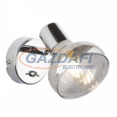 GLOBO 54921-1 LOTHAR Fali lámpa  , 40W , E14 , króm , füstös hatású üveg
