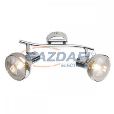 GLOBO 54921-2 LOTHAR Mennyezeti lámpa , 40W ,  2x E14 , króm , füstös hatású üveg