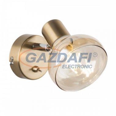GLOBO 54922-1 DONTO Fali lámpa ,40W , E14 , antik arany , króm , üveg , borostyán