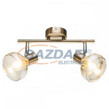 GLOBO 54922-2 DONTO Mennyezeti lámpa , 40W , 2x E14 , antik arany , króm , üveg , borostyán