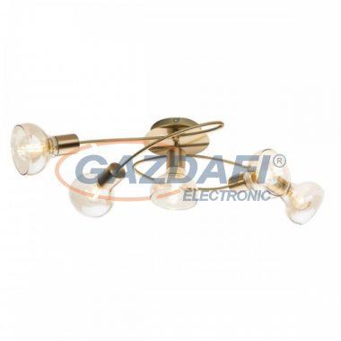GLOBO 54922-5 DONTO Mennyezeti lámpa , 40W ,  4x E14 , antik arany , króm , üveg , borostyán