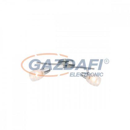 GLOBO 54985-2 Roy Mennyezeti lámpa , 40W , 2x E14 , króm , üveg