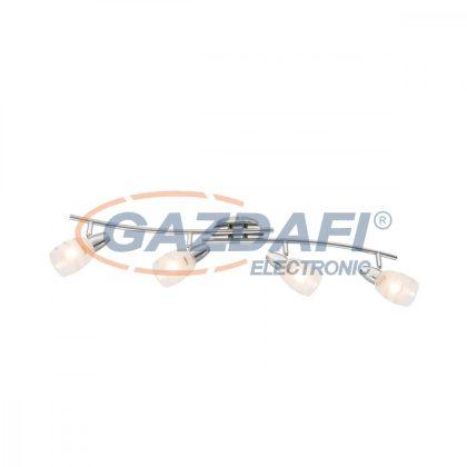 GLOBO 54985-3 Roy Mennyezeti lámpa , 40W , 4x E14 , króm , üveg