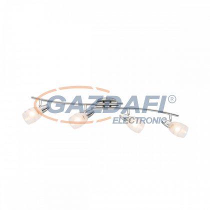 GLOBO 54985-4 Roy Mennyezeti lámpa , 40W , E14 , króm / üveg