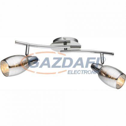 GLOBO 54986-2 Carson Mennyezeti lámpa , 40W , 2x E14 , króm , üveg