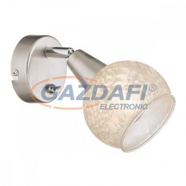 GLOBO 54987-1 CALIFORNIA Fali lámpa , 40W , E14 , nikkel matt , üveg