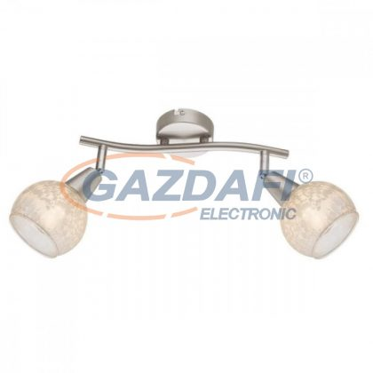 GLOBO 54987-2 CALIFORNIA Mennyezeti lámpa , 40W ,  2x E14  , nikkel matt , króm