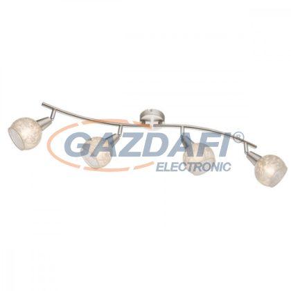 GLOBO 54987-4  CALIFORNIA Mennyezeti lámpa , 40W , 4x E14 , nikkel matt , üveg