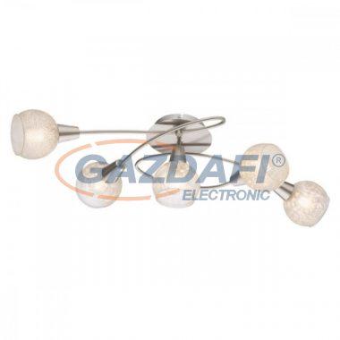 GLOBO 54987-5 CALIFORNIA Mennyezeti lámpa , 40W , 5x E14  , nikkel matt , üveg