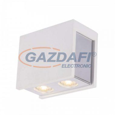 GLOBO 55010-2D CHRISTINE Mennyezeti lámpa , 25W , GU10 , IP20 , gipsz , króm / fehér