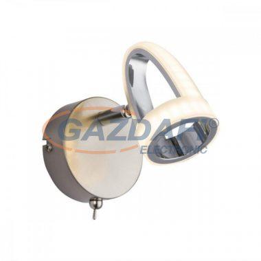 GLOBO 56006-1 RODRIK Fali lámpa, LED 5W , 3000 K , 310 Lm , króm , nikkel matt , műanyag