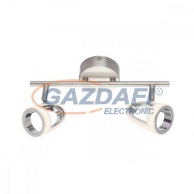 GLOBO 56006-2 RODRIK Mennyezeti lámpa , 2x LED 5W , 3000 K , m 2x 310 Lm , króm , nikkel matt , műanyag