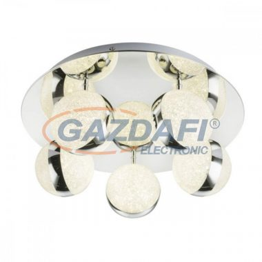 GLOBO 56007-5 Tobias Mennyezeti lámpa ,10W , 4000 K , 950 Lm , króm/akrilkristályok/akril
