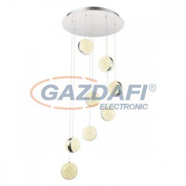GLOBO 56007-8H Tobias Mennyezeti lámpa , 80W , 4000 K ,5980 Lm , króm/akrilkristályok/ akril