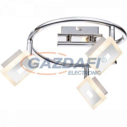 GLOBO 56111-3 GEROLF Mennyezeti lámpa , 3x LED 5W , 3000 K , 3x 210 Lm , króm , nikkel matt , akril