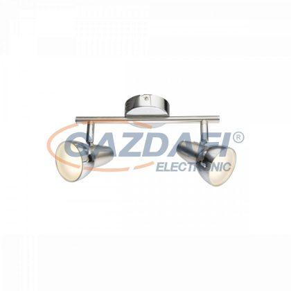 GLOBO 56116-2 Cappuccino Mennyezeti lámpa , 2x LED 4W , 3000 K , 2x 250 Lm , nikkel matt , króm , műanyag