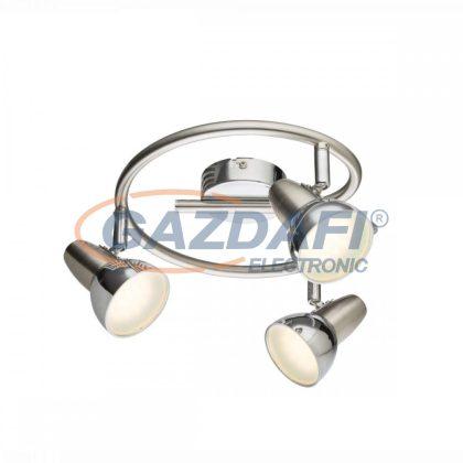 GLOBO 56116-3 Cappuccino Mennyezeti lámpa ,  3x LED 4W , 3000 K , 3x 250 Lm , nikkel matt , króm , műanyag