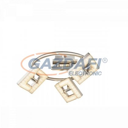 GLOBO 56118-3 EMMA Mennyezeti lámpa , 3x LED 4W , 3000 K , 3x 280 Lm , nikkel matt , króm , műanyag , műanyag krsitályok