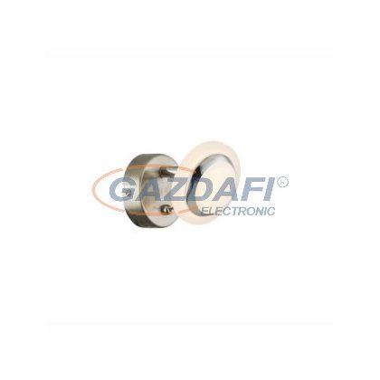 GLOBO 56125-1 Fumarole Fali lámpa , LED 4W , 3000 K , 280 Lm , nikkel matt , króm , műanyag