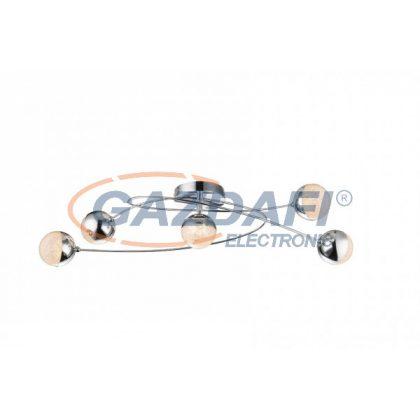 GLOBO 56127-5D Utila Mennyezeti lámpa , LED 25W , 3000 K , 300 Lm , króm , akril , akril kristályok