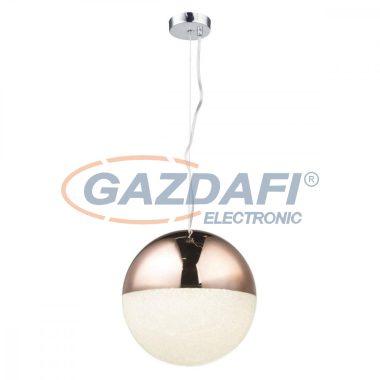 GLOBO 56127HC UTILA Függeszték , LED 16W , 4000 K , 1410 Lm , fémréz, műanyag, akril kristályok