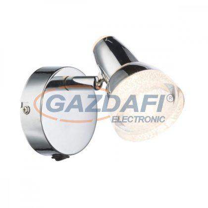 GLOBO 56134-1 ALASKA Fali lámpa, LED 4W , 3000 K , 200 Lm , króm , üvegkristály , műanyag