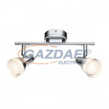 GLOBO 56134-2 ALASKA Mennyezeti lámpa, 2x LED 4W , 3000 K , 2x 200 Lm , króm , üvegkkristály , műanyag