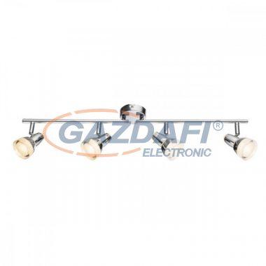 GLOBO 56134-4 ALASKA Mennyezeti lámpa , 4x LED 4W , 3000 K , 4x 200 Lm , króm , üveg kristályok . műanyag