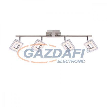 GLOBO 56138-4 KERSTIN  Mennyezeti lámpa, 4x LED 4W , 3000 K , 4x 304 Lm , króm , nikkel matt , műanyag