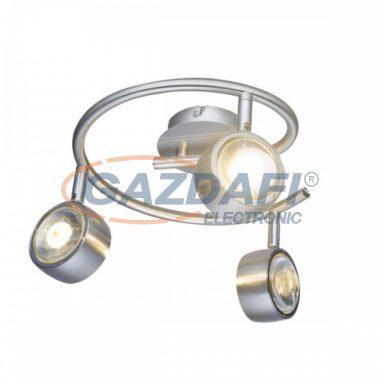 GLOBO 56290-3 BARRA Mennyezeti lámpa , 3x LED 5W , 3000 K , 3x 300 Lm , nikkel matt, króm, üveg, műanyag