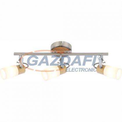 GLOBO 56606-3 Lori Mennyezeti lámpa , LED 4W , 3x G9 , 3000 K , 3x 304 Lm , króm/ nikkel matt /faipari / üveg