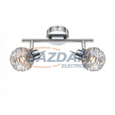 GLOBO 56625-2L BOLT Mennyezeti lámpa, LED 3W , 2x G9 , 4000 K , 2x 250 Lm , króm /akril kristályokkal