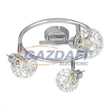 GLOBO 56625-3L BOLT Mennyezeti lámpa, LED 3W , 3x G9 , 4000 K , 3x 250 Lm , króm/ akril kristályokkal