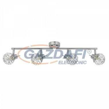 GLOBO 56625-4L BOLT Mennyezeti lámpa, LED 3W , 4x G9 , 4000 K ,4x 250 Lm , króm /akril kristályokkal