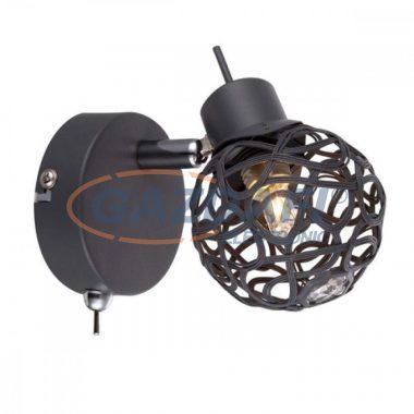 GLOBO 56628-1L MOSA Fali lámpa , LED 3W , G9 , 4000 K , 185 Lm , szürke / akril kristályokkal