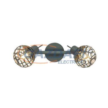 GLOBO 56628-2L Mosa Mennyezeti lámpa ,  LED 3W ,  2x G9  , 4000 K , 2x 185 Lm , szürke / akril kristályokkal