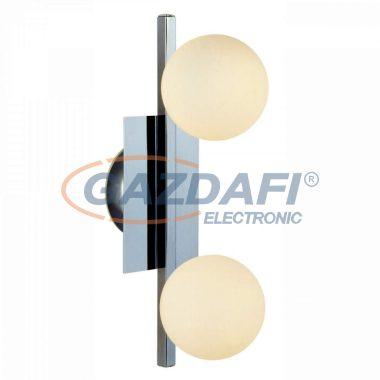 GLOBO 5663-2L  CARDIFF Fali lámpa,  LED 3W , 2x G9 ,  3000 K , 2x 260 Lm , króm/ opál üveg
