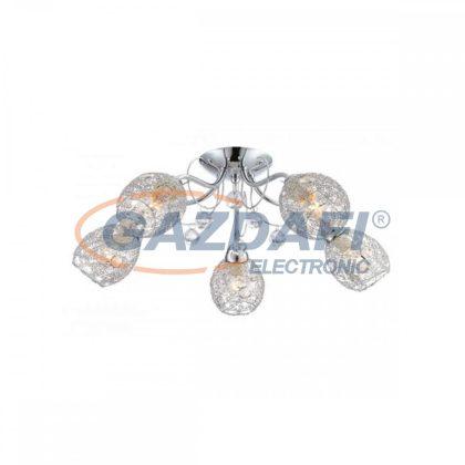 GLOBO 56689-5 KORDULA Mennyezeti lámpa , 40W , E14 , króm , üveg kristály