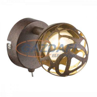 GLOBO 56802-1 OHIO Fali lámpa  ,  LED 4W , 3000 K , 220 Lm , rozsda hatású ,  arany , műanyag