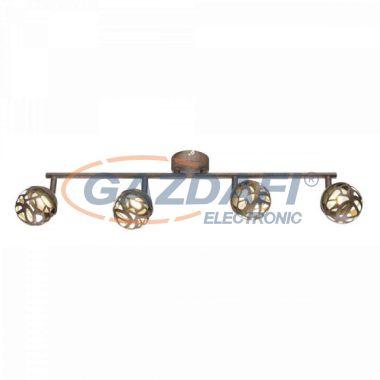 GLOBO 56802-4 OHIO Mennyezeti lámpa ,  4x LED 4W , 3000 K , 4x 220 Lm , rozsda hatású , arany , műanyag