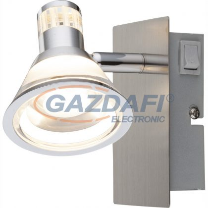 GLOBO 56956-1 Takiro Fali lámpa ,  LED 5W , 3000 K , 330 Lm , króm , nikkel matt , akril