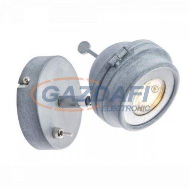 GLOBO 57301-1 MYCAH Fali lámpa,  LED 5W , GU10  , 3000 K , 340 Lm , fém , beton optika , ezüst , króm