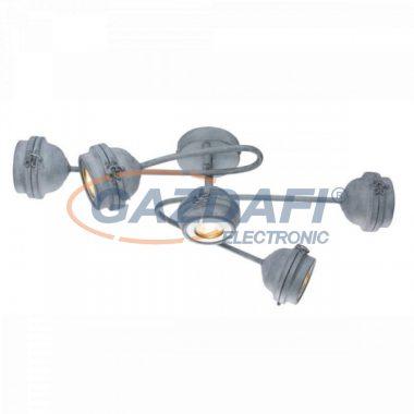 GLOBO 57301-5 MYCAH Mennyezeti lámpa, LED 5W , 5x GU10 , 3000 K , 5x 340 Lm , fém , beton optika , ezüst , króm