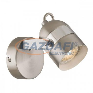 GLOBO 57352-1 APPLE   Fali lámpa , LED 5W , GU10 , 3000 K , 290 Lm , nikkel matt , króm