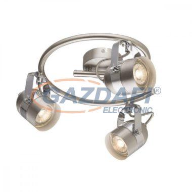 GLOBO 57352-3 APPLE Mennyezeti lámpa , LED 5W ,  3x GU10 , 3000 K , 3x 290 Lm , nikkel matt , króm