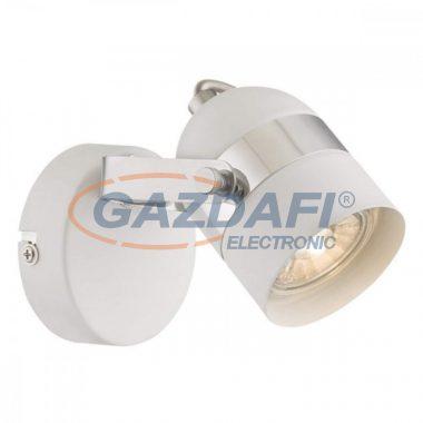 GLOBO 57353-1  CALGARY   Fali lámpa ,  LED 5W , GU10 , 3000 K , 290 Lm , fém fehér , króm