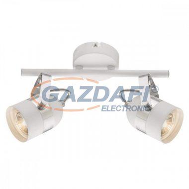 GLOBO 57353-2 CALGARY Mennyezeti lámpa , LED 5W ,  2x GU10 , 3000 K , 2x 290 Lm , fém fehér , króm