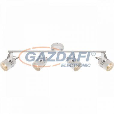 GLOBO 57353-4 CALGARY Mennyezeti lámpa ,  LED 5W ,  4x GU10 , 3000 K , 4x 290 Lm , fém fehér , króm